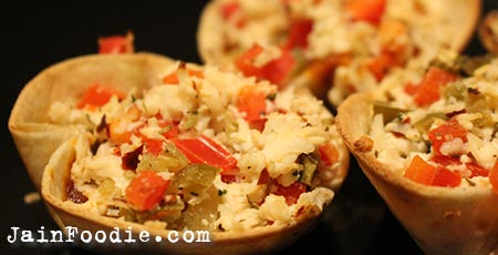 Jain Paneer Tortillas