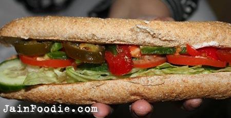Jain Veggie Delight Subway